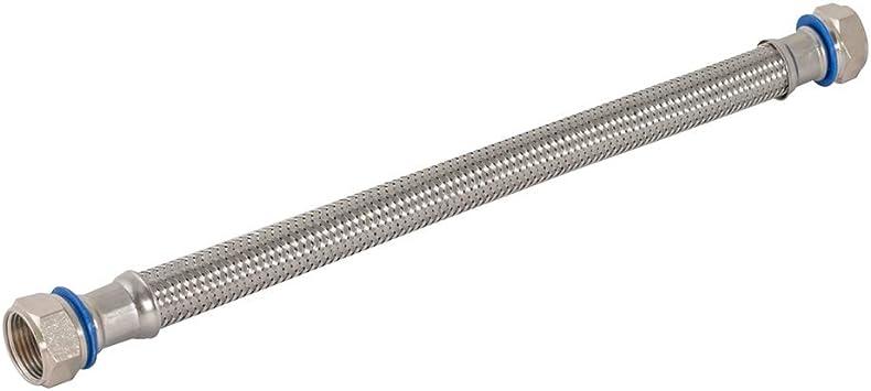 Eastman 48252 Flexible Stainless Steel Water Heater Connector 3 4 Fip Swivel 24 Length Silver Water Heater Hose Lead Amazon Com