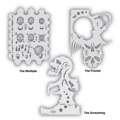 Artool Freehand Airbrush Templates, Freehand Skullmaster Set