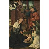 Oil painting 'Master of Frankfurt - Epiphany Triptych Left Panel, 16th century' printing on high quality polyster Canvas , 10x16 inch / 25x41 cm ,the best Game Room gallery art and Home artwork and Gifts is this Best Price Art Decorative Canvas Prints