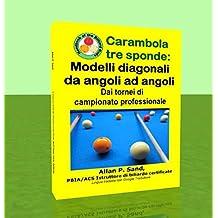 Carambola tre sponde - Modelli diagonali da angoli ad angoli: Dai tornei di campionato professionale (Italian Edition)