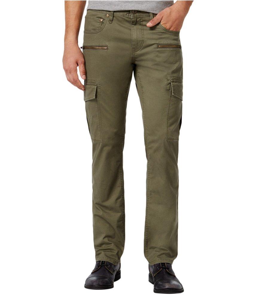 INC International Concepts Men's Esteban Berlin Slim-Straight Cargo Pants (36, Tank)