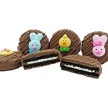 Philadelphia Candies Milk Chocolate Covered OREO® Cookies, Easter Faces Assortment Net Wt 8 oz