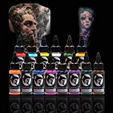 14 Bottle 30ml Natural Plant Tattoo Pigment Permanent Makeup Tattoos Ink Pigment For Body Professional Beauty Art Supplies new