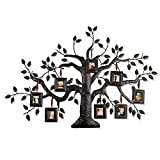 Homebeez 8 Opening 2″ x 2.5″ Collage Family Tree Bronze Iron Metal Photo Frame, Brown/Black Review
