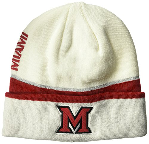 NCAA Miami (Ohio) Redhawks Adult Men Coach's Cuffed Beanie, One Size, White