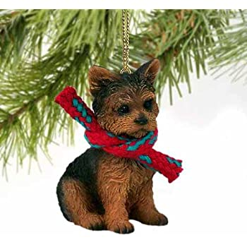 Amazon Com Yorkshire Terrier Puppy Cut Christmas Ornament Home
