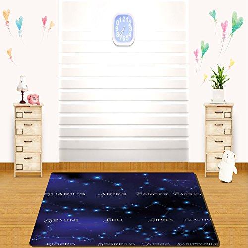 HAIXIA rugs Constellation Dark Night Sky Star Groups of Zodi