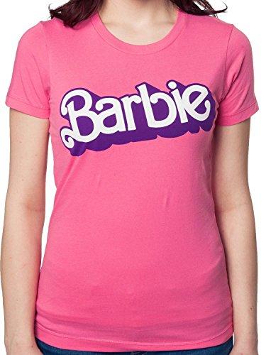 (Juniors 80s Logo Barbie T-Shirt Pink Medium)