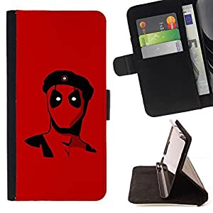 DEVIL CASE - FOR Samsung Galaxy Note 4 IV - Rebel Superhero - Style PU Leather Case Wallet Flip Stand Flap Closure Cover