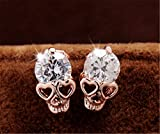 Search : Fusicase New Crystal Champagne Retro Resins Skull Earrings