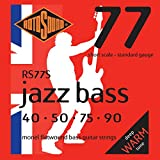 Rotosound RS77S Jazz Bass Monel Flatwound Short-Scale Bass Guitar Strings (40-90)