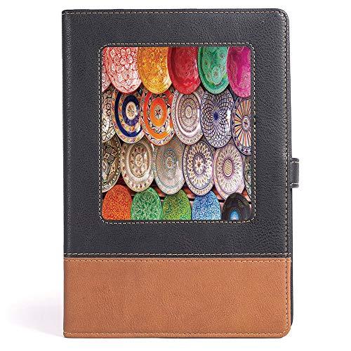 Cuaderno de notas gruesas para computadora portátil, diario marroquí, cuaderno de notas, papel Daolin, diseño turco...