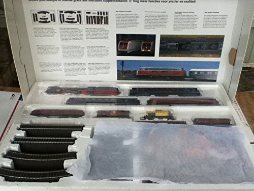 MARKLIN HO DIGITAL PREMIUM STARTER 2 TRAINS SET 29845 - DIG.DB LOCOMOTIVES W/SOUND BLUE STEAMER 4-6-2 CLASS-003 & DIESEL V-216+ASSORT.CARS+LONG OVAL W/SWITCHES+TRANSF.&CONTROL - Locomotive Marklin