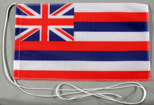 Hawaii USA State of 15 x 25 CM Tischflagge in professional quality Bootsflagge Motorradflagge Mopedflagge Car Flag USA