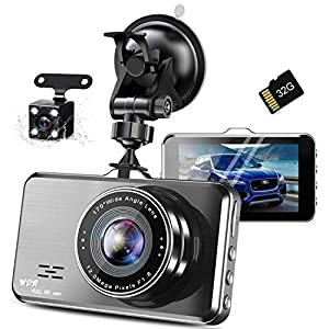 ドライブレコーダー 前後カメラ SONY IMX382センサー 32GBカード付き アルミ合金製