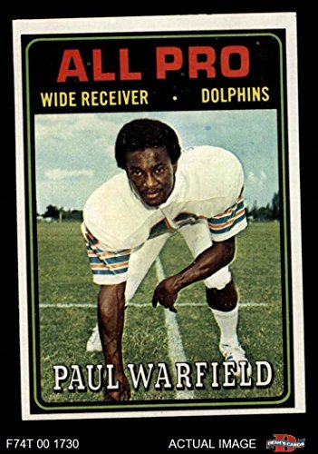 1971 Topps #261 Paul Warfield Miami Dolphins Football Card Amerikaans voetbal