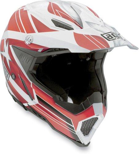 AGV AX-8 EVO Flagstars MX Offroad Helmet White/Red XS