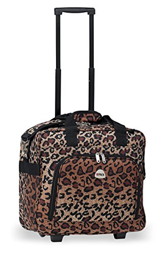Rolling Lightweight Luggage Suitcase Cheetah