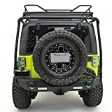 Restyling Factory 07-17 Jeep JK Wrangler Rear Spare Tire License Plate Relocation Bracket Kit (Black)