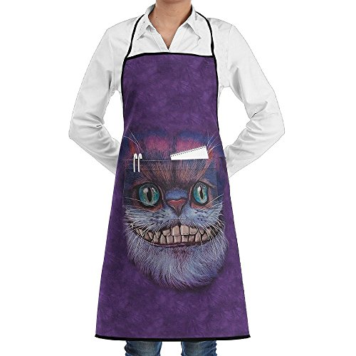Kitchen Chef Works Apron Big Face Cheshire Cat Professional 100% Polyester With Pockets Durable Lightweight For Man/women