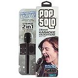 Tzumi Electronics Tzumi Popsolo Wireless Bluetooth Karaoke Microphone with Built-in Retractable Smartphone Holder, with Speaker Portable Kareoke Mic, Black, 11