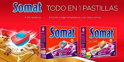 Somat Todo En 1 Lima y Limón Pastillas Lavavajillas 52 Dosis ...