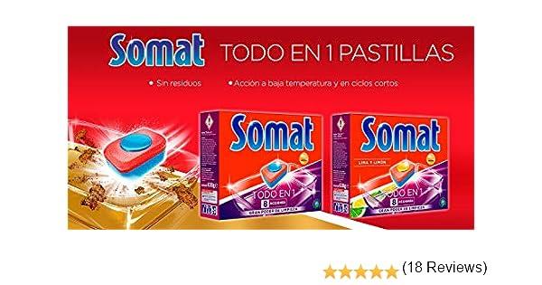 Somat Todo En 1 Pastillas Lavavajillas - 34 +5 Dosis