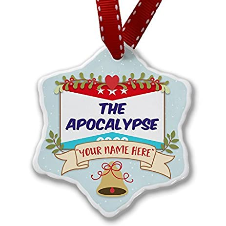 custom christmas ornament add your own custom name funny election sign the apocalypse 2020 ornaments craft