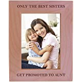 My Aunt Frame Beveled Glass Holds 4x6 Photo Engraved