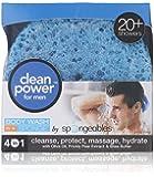 Spongeables Clean Power for Men- Body Wash in a Sponge (Pack of 3)