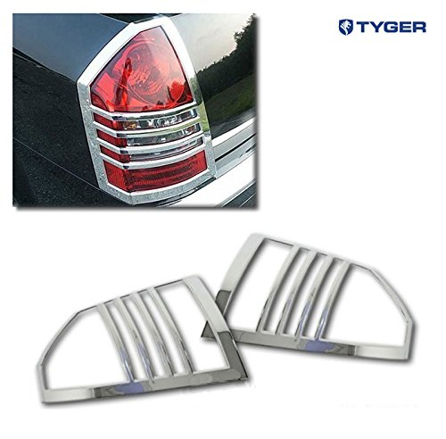 Tyger ABS Triple Chrome Plated Tail Light Bezel Trim Cover Fits 05-07 Chrysler 300//300C