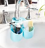 Kitchen Stuff Mikey Store Convenient Kitchen Gadget Organizer Sponge Holder Sink Holder Soap Dish Soap Holder(Blue)