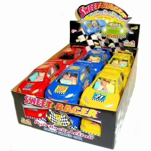 Sweet Racer Pull Back Action Candy Filled Cars (1 Box, 12 -