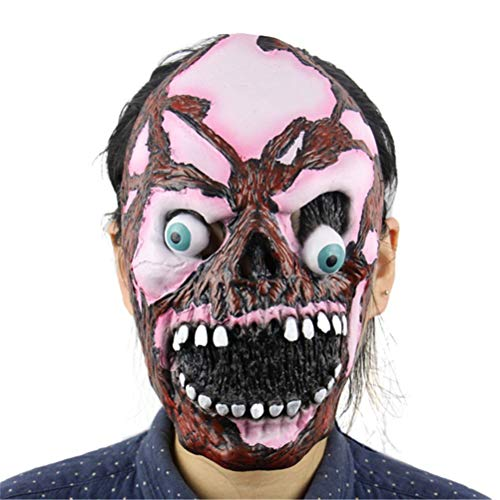 BERTERI Masquerade Masks Halloween Mask Scary Child's Play Latex Realistic Crazy Rubber Creepy Party Mask Halloween Costume -