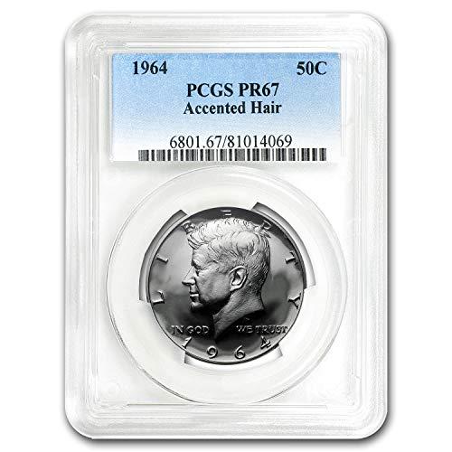 1964 Kennedy Half Dollar Proof-67 PCGS (Accented Hair Variety) Half Dollar PR-67 PCGS (Proof Dollar Half Kennedy)