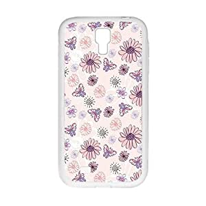 Flower And Butterfly Fashion Personalized Clear Cell Phone Case For Samsung Galaxy S4