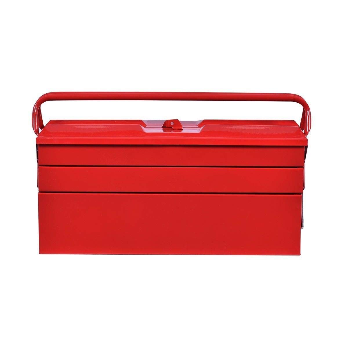 Red 19.5'' Portable Steel Garage Storage Tool Box w/ 5 Tray & Handle with Ebook