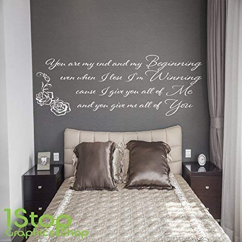 Bedroom Wall Quotes | 1stop Graphics Shop John Legend Beginning Wall Sticker Quote