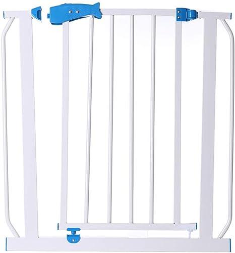 FMEZY parque infantil FMEZY Puerta de seguridad Compuerta con compuerta Puerta de seguridad para mascotas Valla de seguridad Barrera de seguridad Valla de expansión ajustable para mascotas Escaleras (Tamaño: 100-107 cm): Amazon.es: