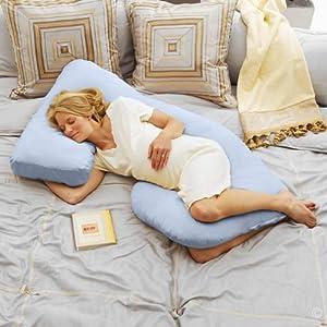 Today's Mom Cozy Cuddler Pregnancy Pillow, Sky Blue