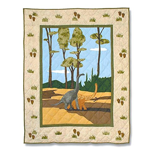 Patch Magic 36-Inch by 46-Inch Dinosaur Quilt Crib