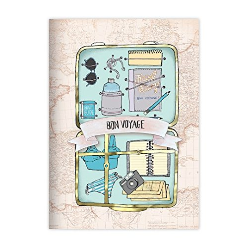 Jet Setter Bon Voyage Travel Themed Set of Three Journals by Recollections (Image #5)