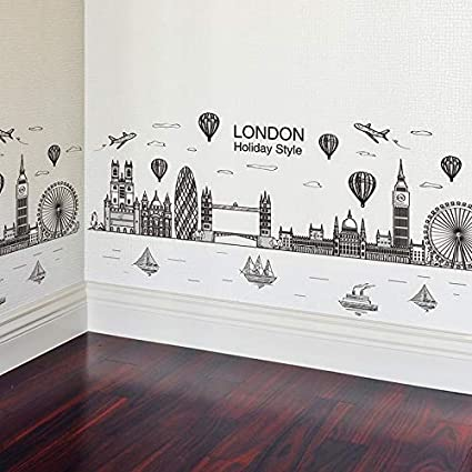 3D Stencil Parete Adesivi Camera Da Lettocreativo London Big ...