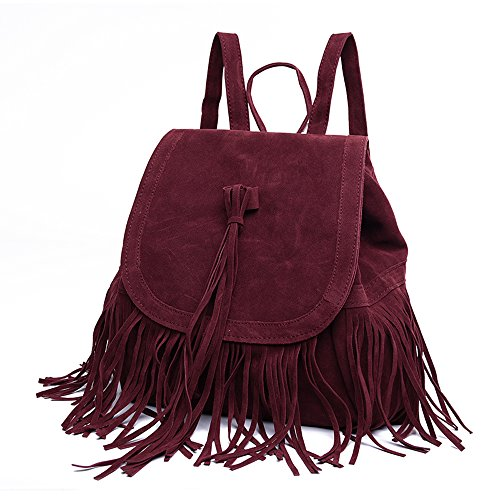 LUI SUI- Valentine's Day Gift Women's Fringed Backpack Tassel Shoulder Bag by LUI SUI (Image #2)