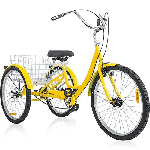 Three Wheel Trike (Merax 26 Inch 3 Wheel Bike Adult Tricycle Trike Cruise Bike (Yellow))