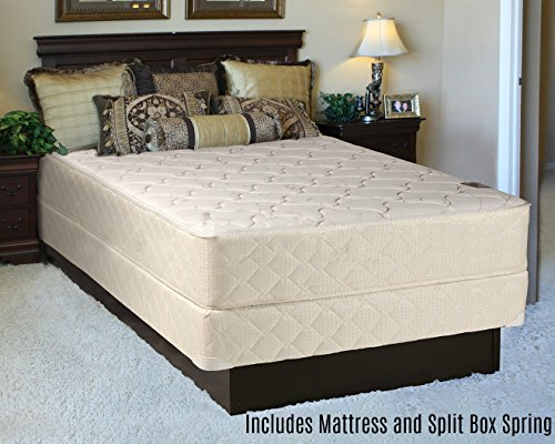 Fully Assembled Orthopedic Back Support Long Lasting 10'' Mattress and Split Box Spring Set by Spring Solution