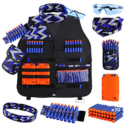 UWANTME Kids Tactical Vest Kit for Nerf Guns N-Strike Elite Series for Boys Girls