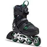 K2 Skate Sk8 Hero Boa Alu Inline Skates, Black Green, Size 4-8