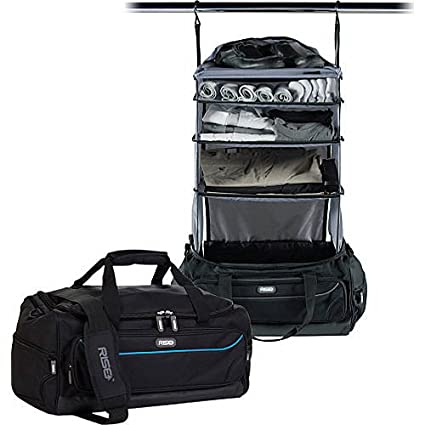 5a9755a204 Image Unavailable. Image not available for. Color  Weekender Travel Bag  with Collapsible Shelves Blue