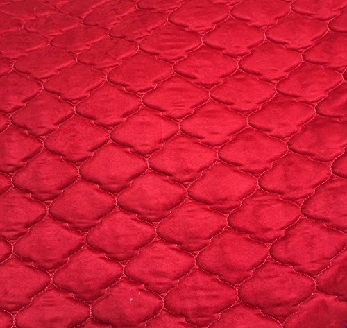 Red Suede Quilted Auto Headliner Headboard Fabric with foam Backing Upholstery auto headliner headboard 58
